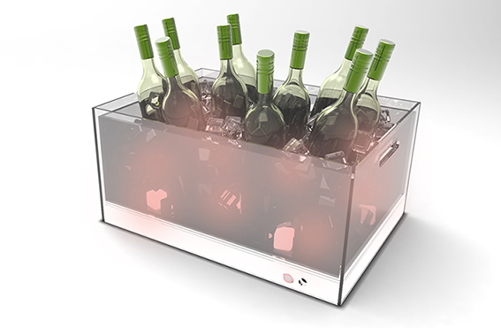 Wine Bottle tray with LED lightings.1733