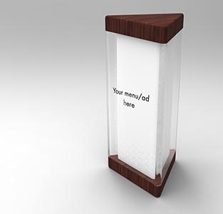 wooden base tent card holder 1