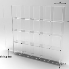 Display Case - Pigeon Hole's Dimensions