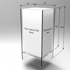 Acrylic Menu Holder Square copy