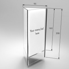 Acrylic Triangular Table Talker