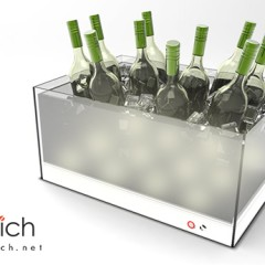 Acrylic Wine Bottle tray with LED lightings
