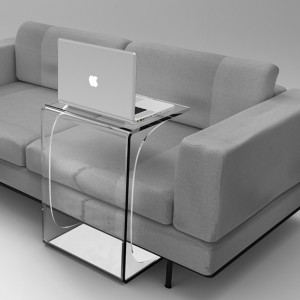 A fully clear laptop table - a stylish piece of furniture that always looks great whereever you place it.