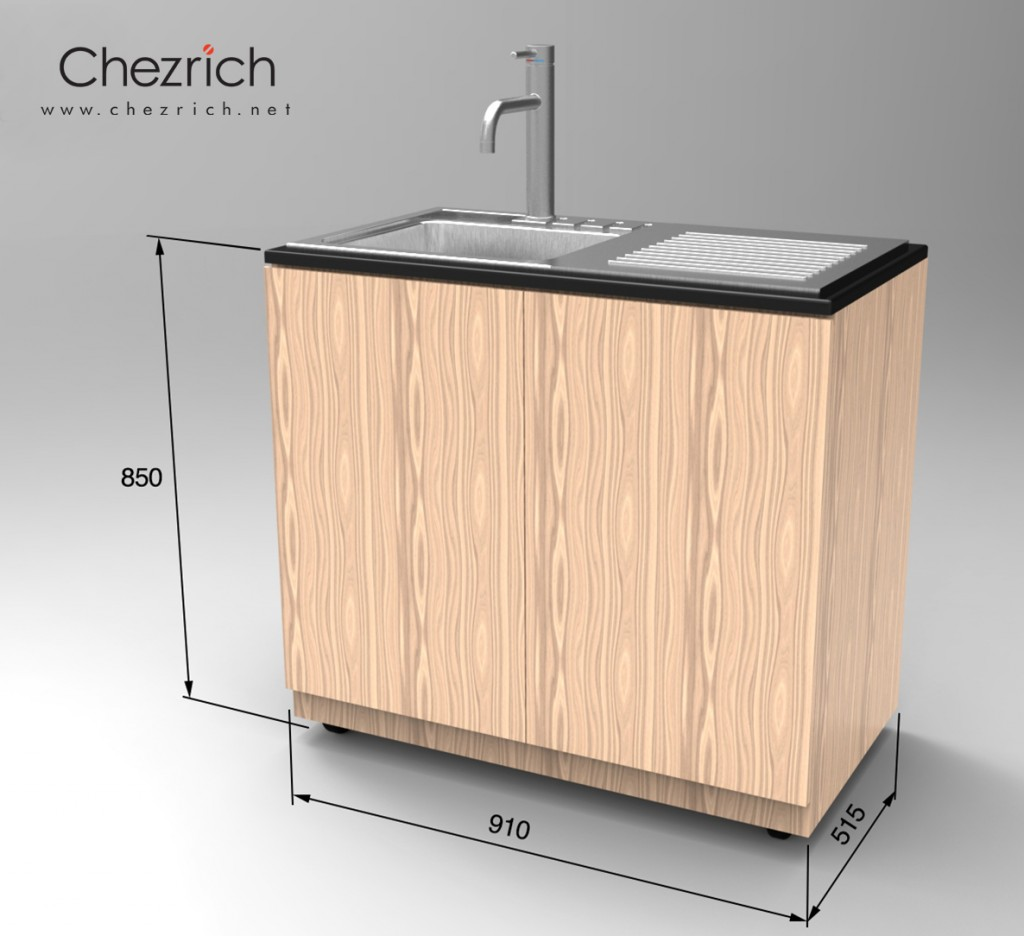 20150813 Chezrich Movable Sink with dimensions