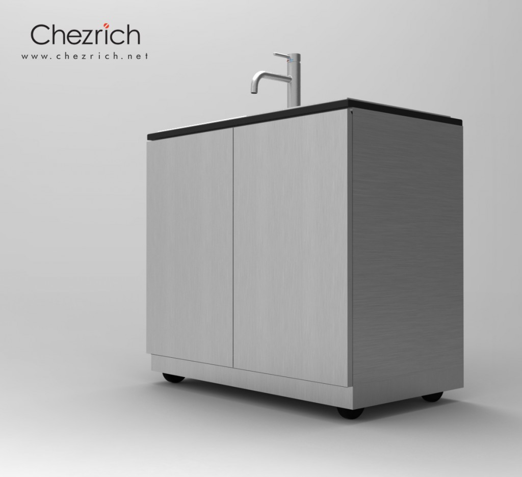20150813 Movable Sink stainless steel