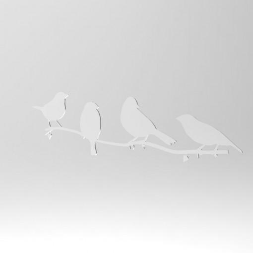 Acrylic Mirror Birds by Chezrich