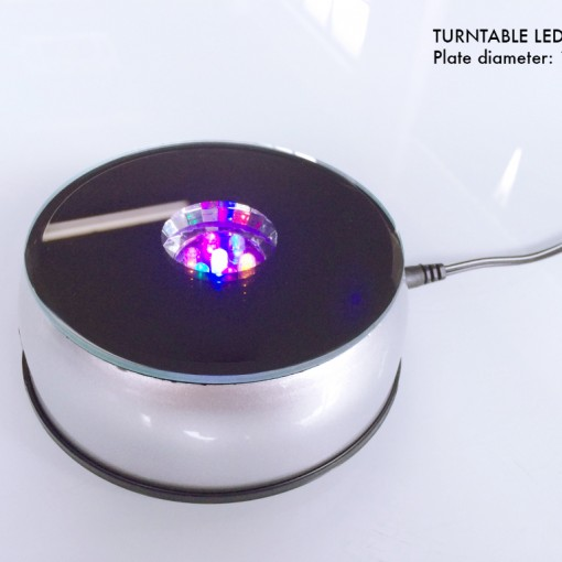 Turntable with LED light A