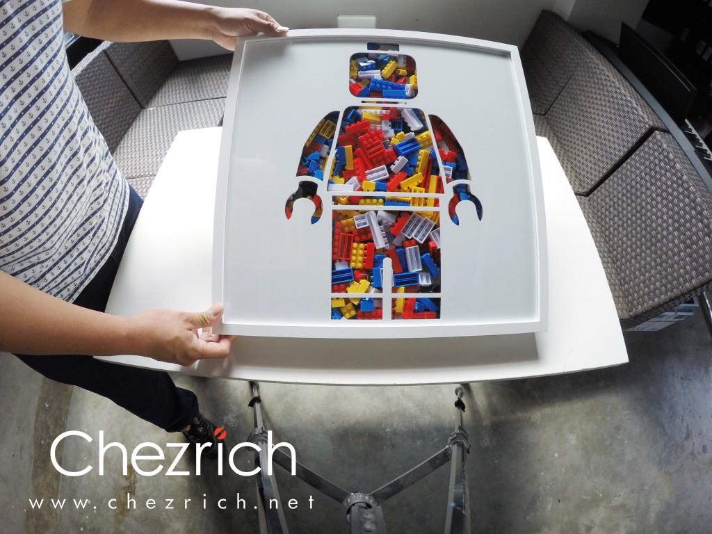 Brick Figure Acrylic Frame by Chezrich