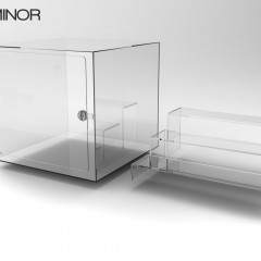 Acrylic Display Instituo Minor 2 with removable Risers