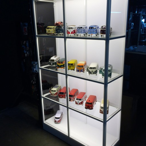 White Budget Display Cabinet