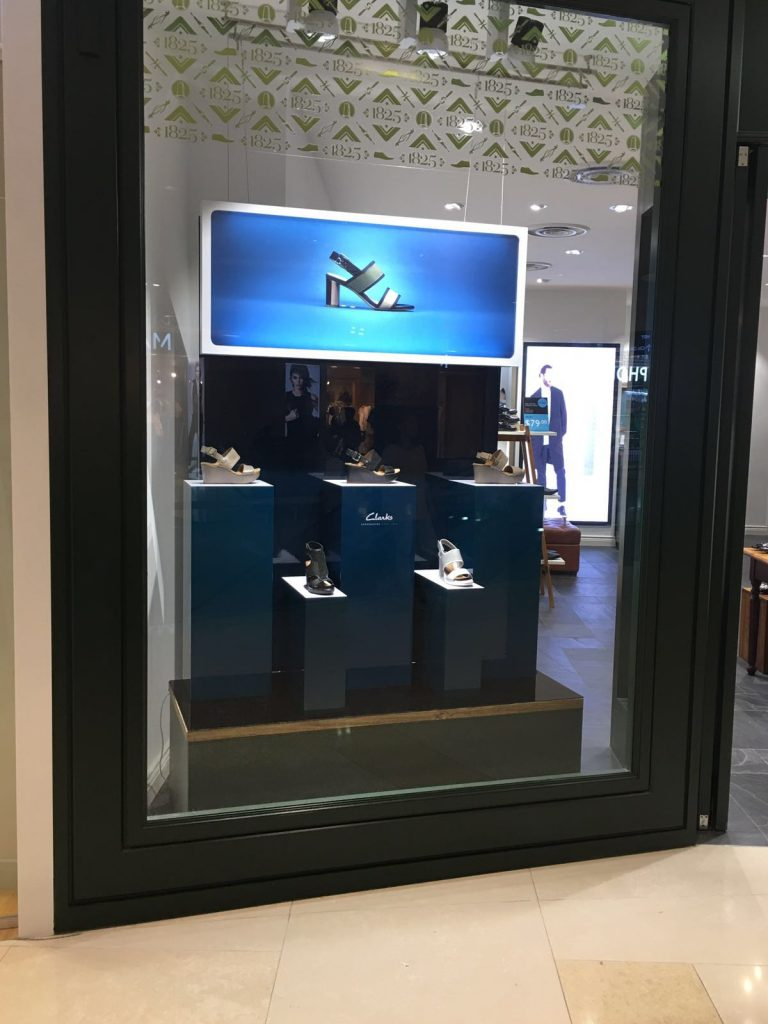 window display for Clarks