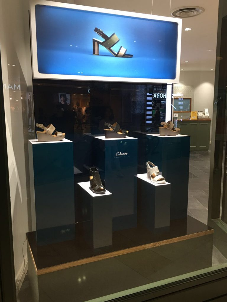 Visual merchandise for Clarks Singapore